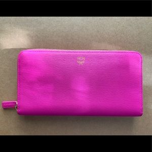 Brand New HOT pink MCM wallet